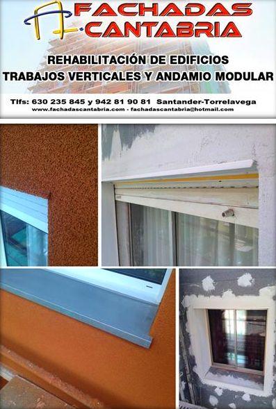 Sistema de aislamiento térmico exterior (Sate) Etics.Trabajos verticales Santander.