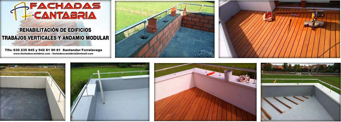 Colocación de tarima IPE en terraza Santander-Torrelavega