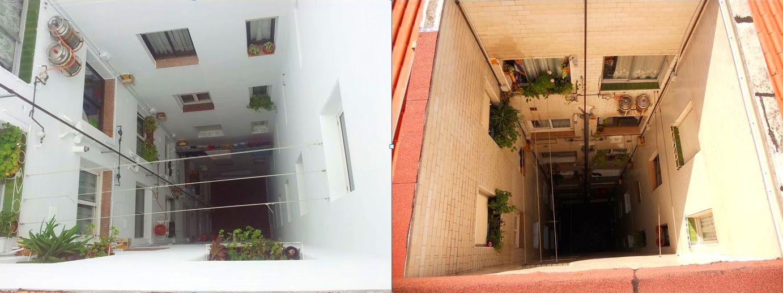 Rehabilitación de patios interiores o patios de luces Santander-Cantabria.