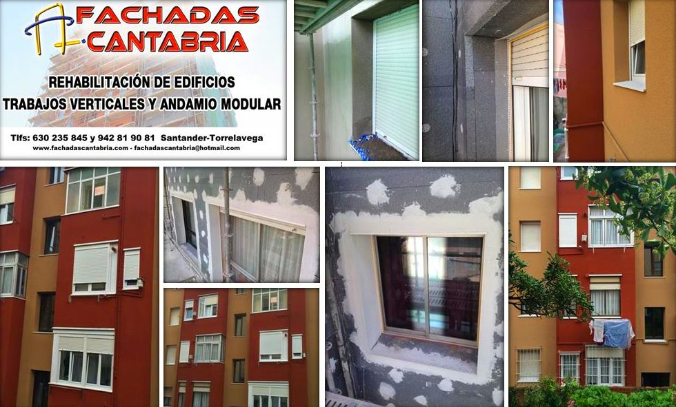 Sistema de aislamiento térmico exterior (Sate) Etics. Fachadas Cantabria.