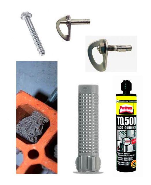 Instalación de cabeceras con anclaje químico o mecánico.