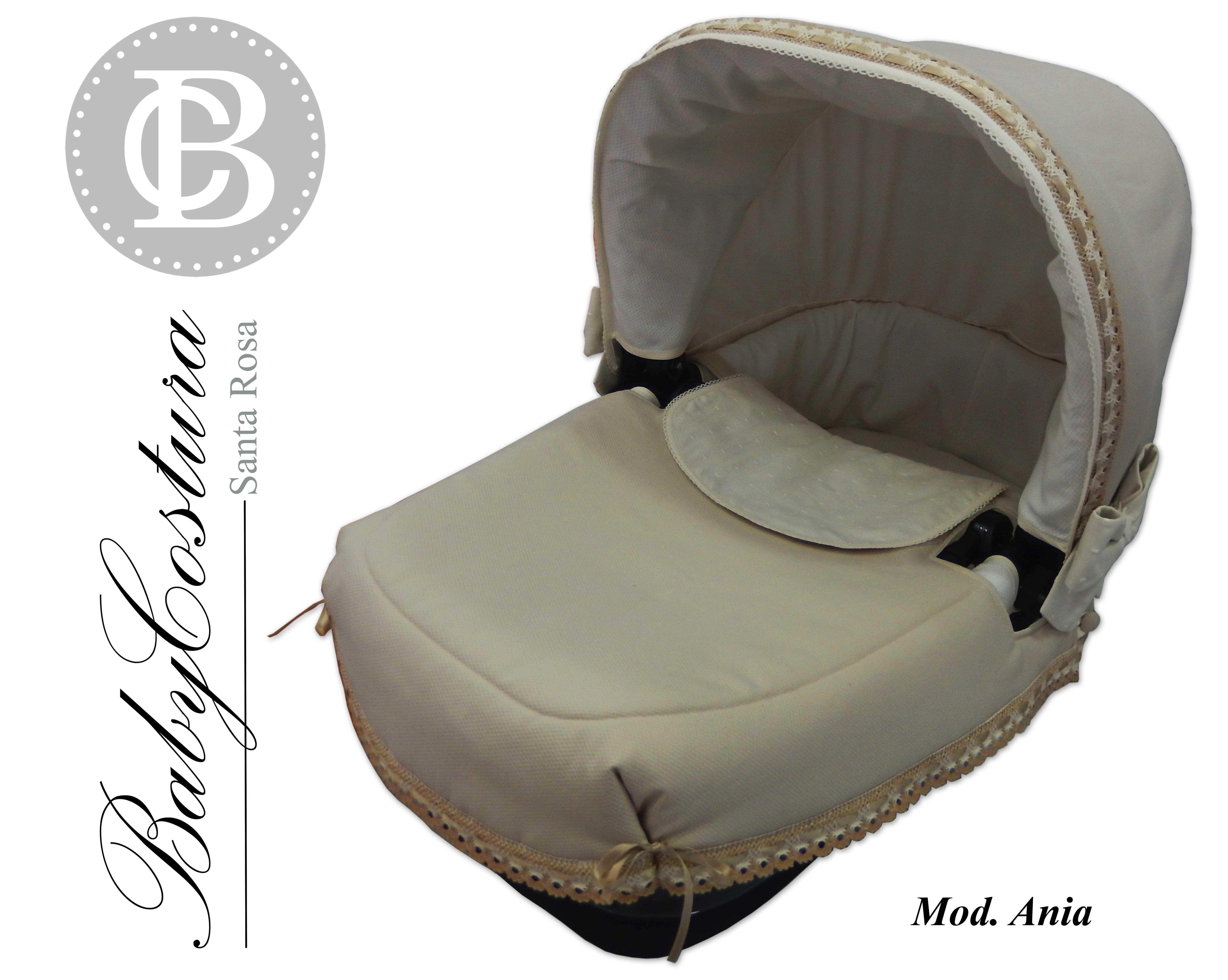 Conjunto de capota, saco e interior de capazo personalizado para Bebecar Ipop