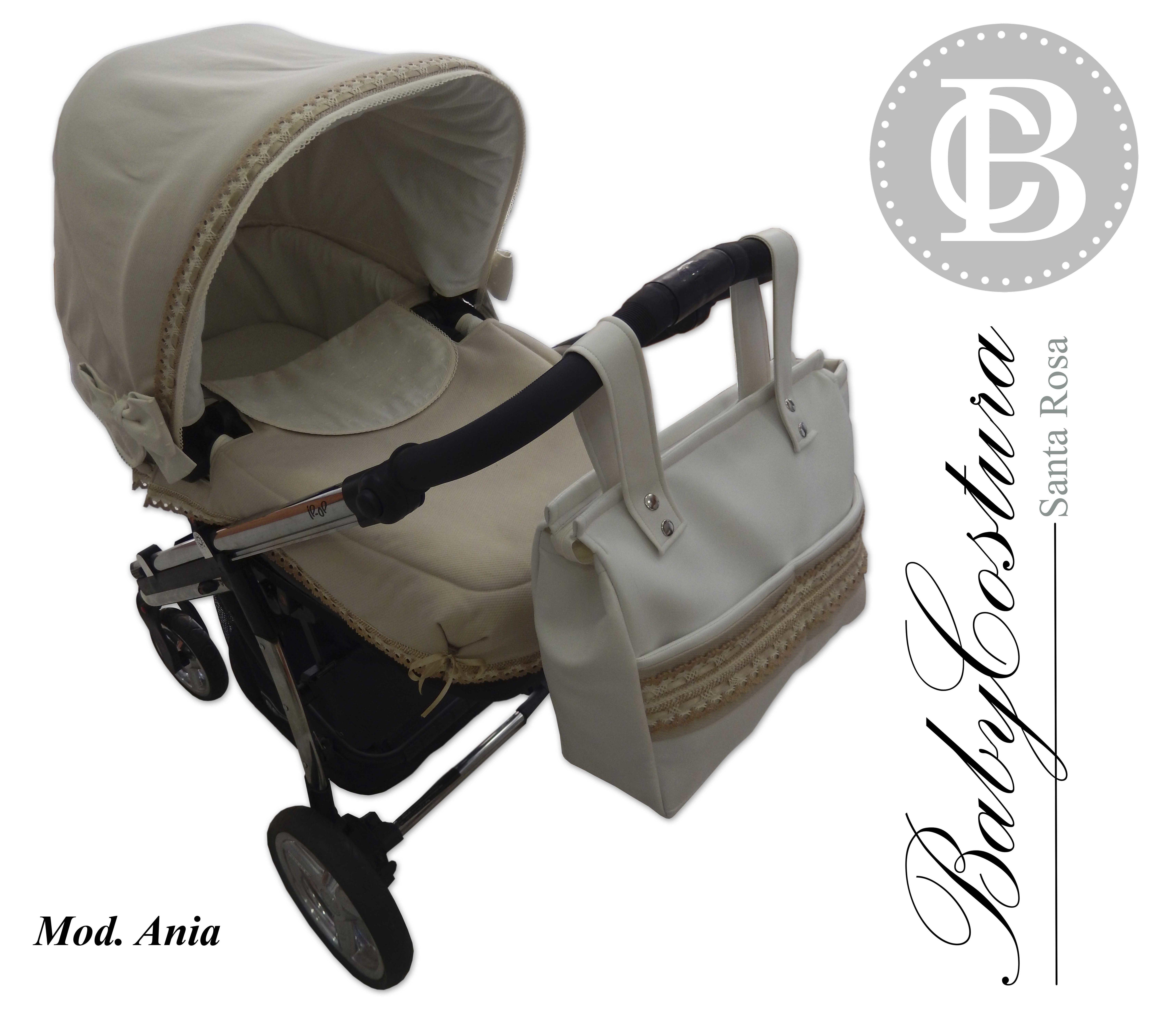 Conjunto de capota, saco,interior de capazo y bolso personalizado para Bebecar Ipop