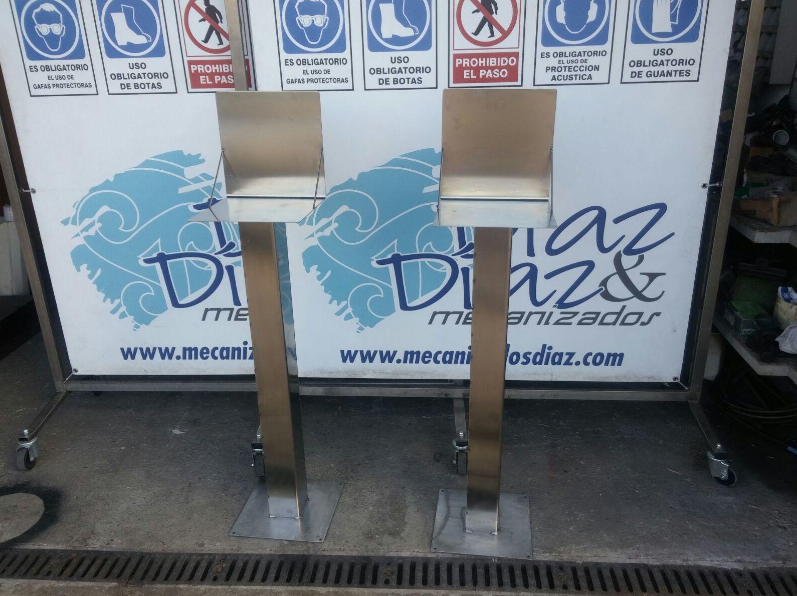 pedestales inoxidables - Mecanizados Díaz & Díaz