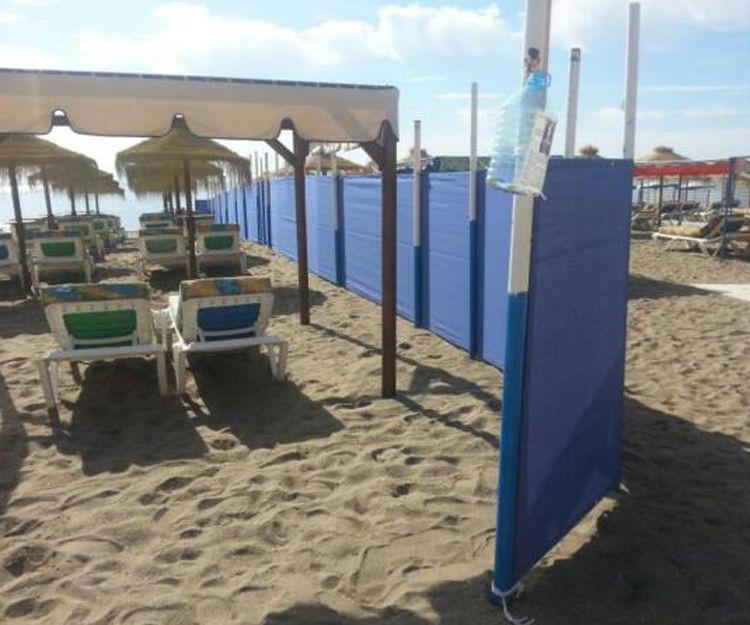 Cortavientos y forros para colchonetas de playa en Torrox
