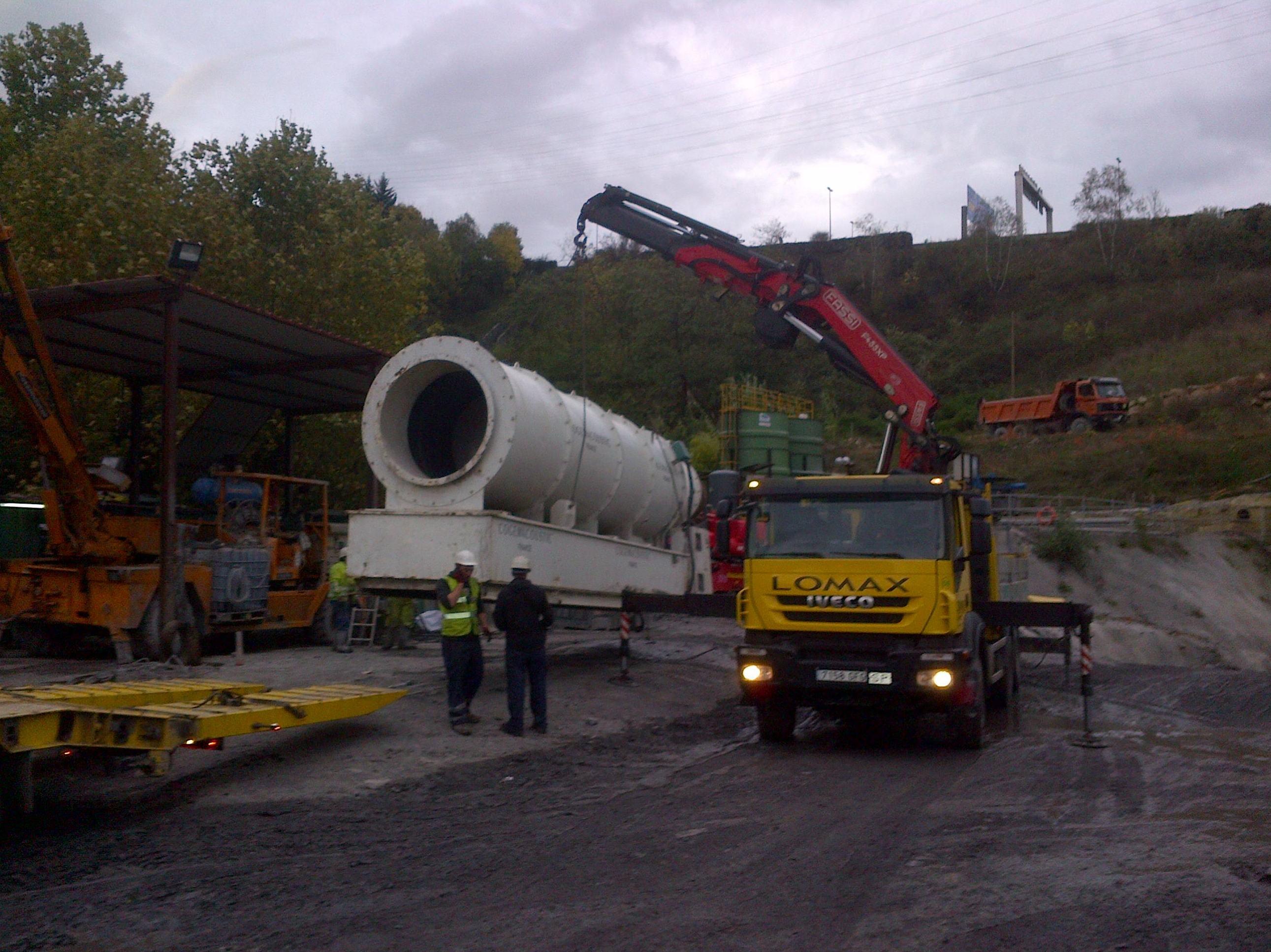Carga de ventilador en el tunel de feve en la peña Bilbao