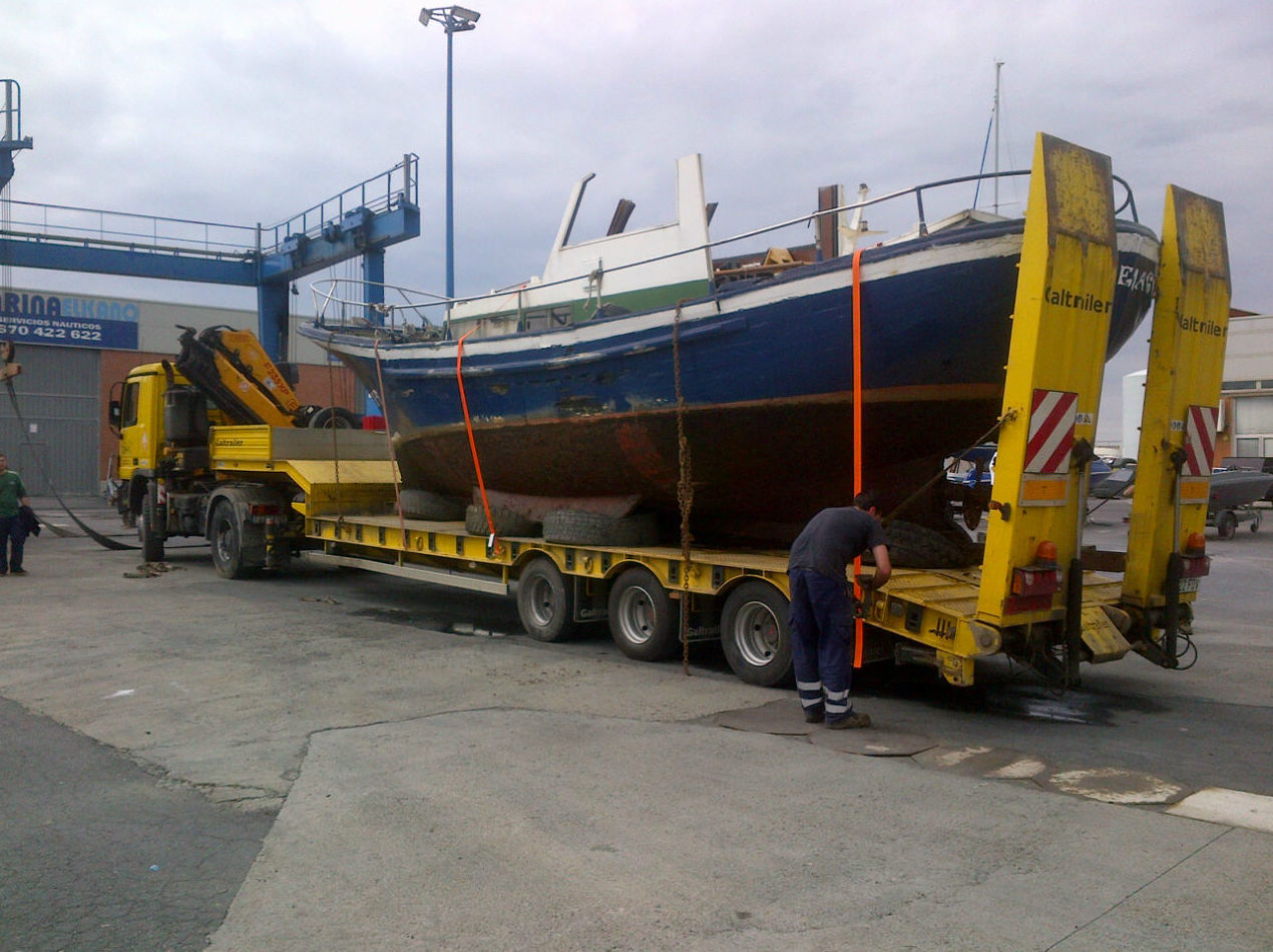 Transporte de embarcacion