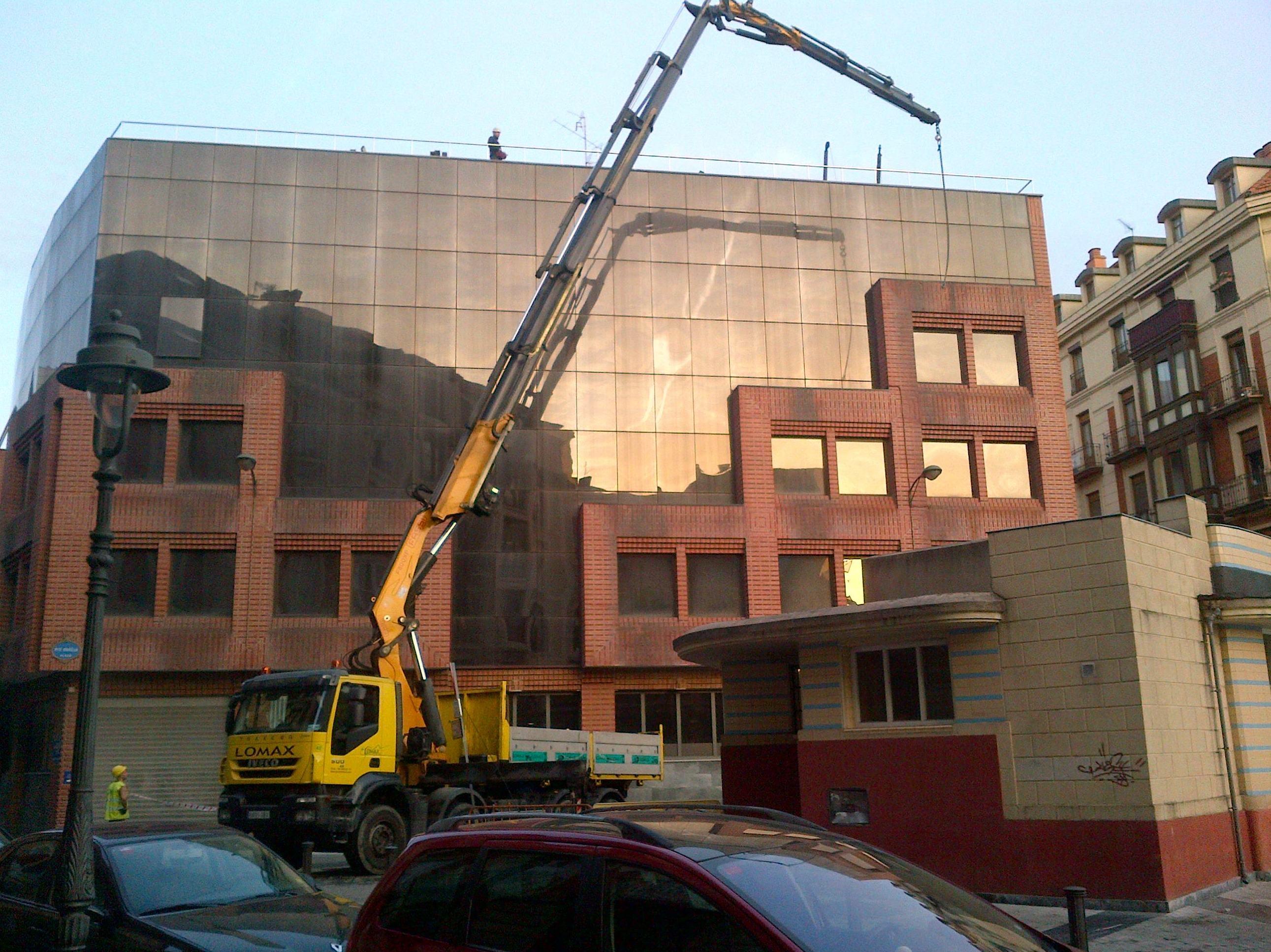 Trabajos en Plaza pio baroja Bilbao