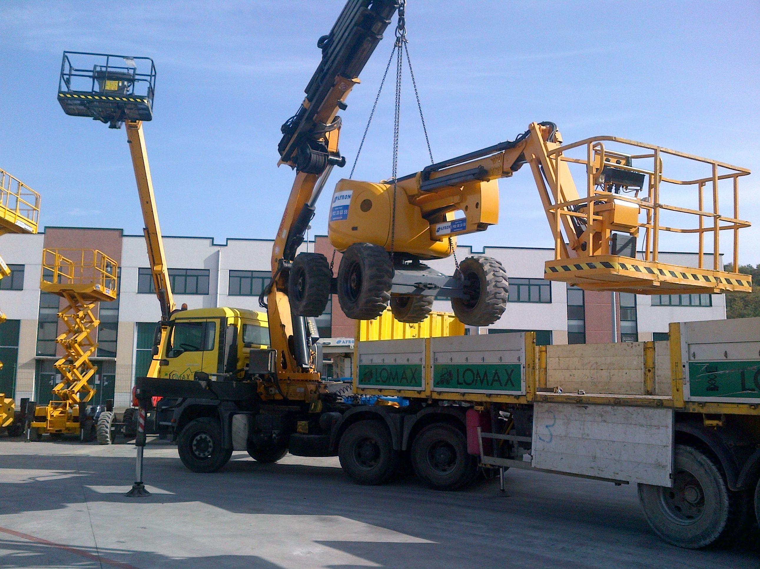 Transporte de maquinaria