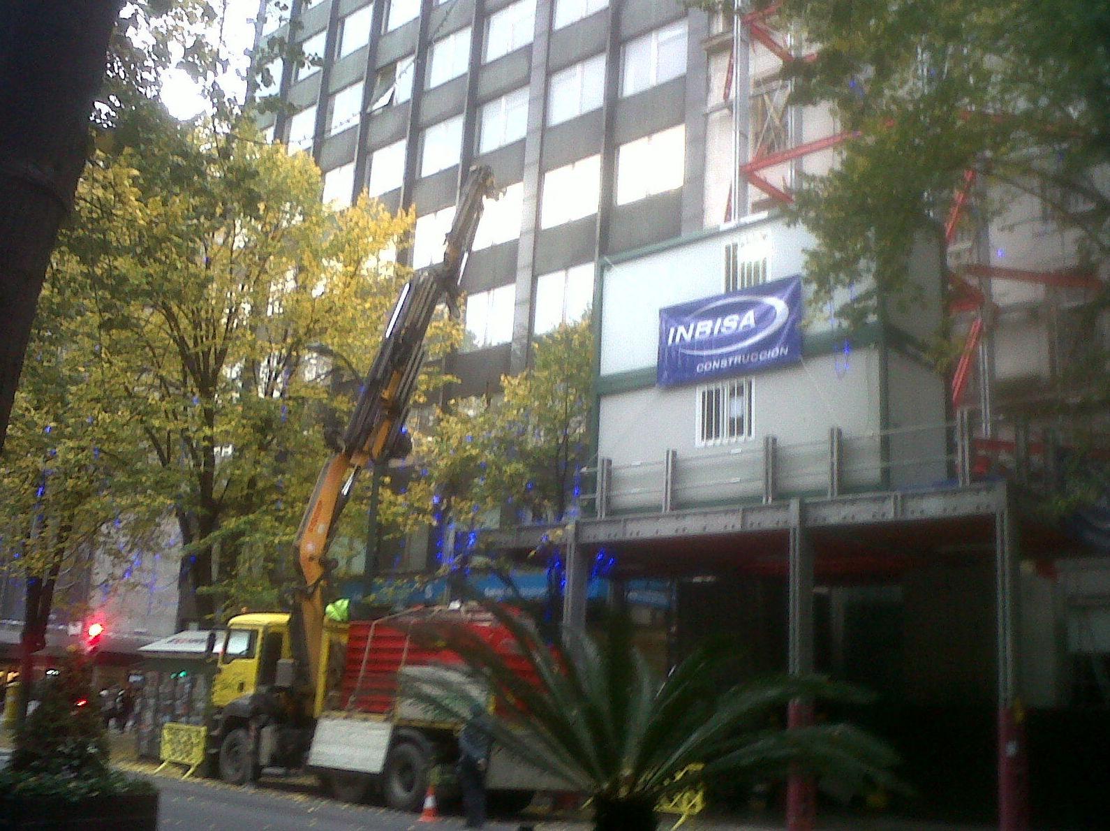 Costruccion de edificio Mango en Bilbao para Inbisa construccion