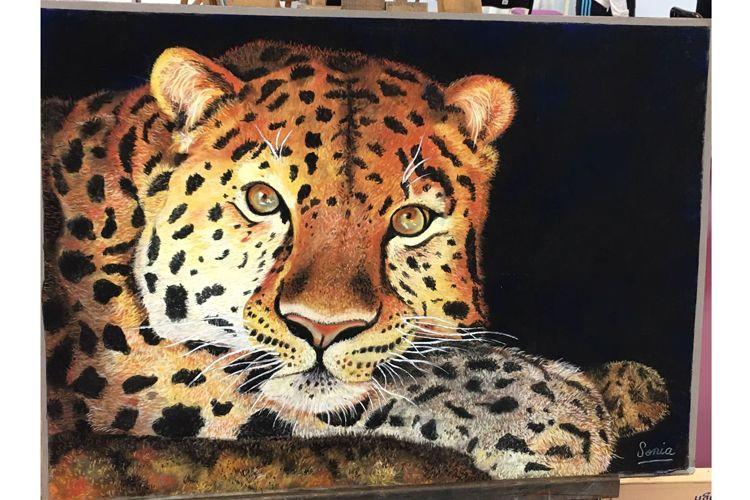 Pintura de tigre