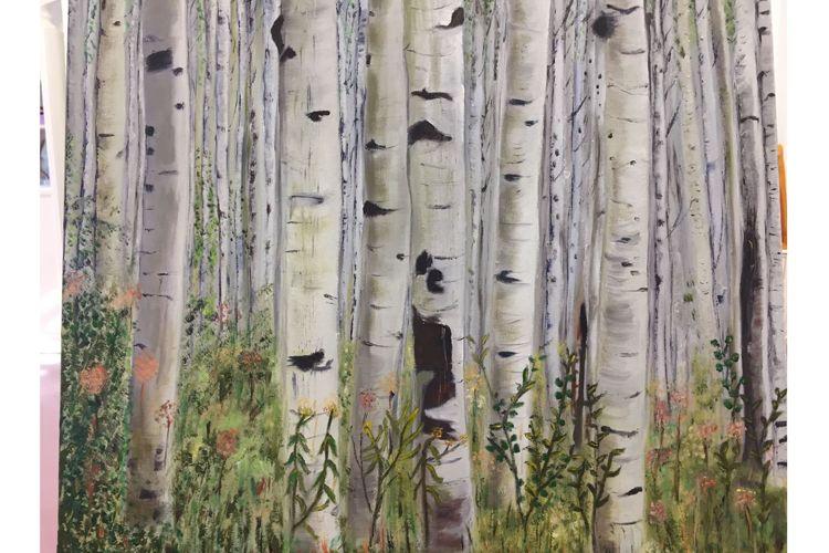 Óleo sobre lienzo realizado por un adulto