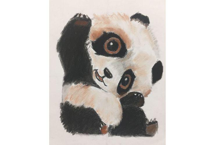 Panda realizado por nuestros alumnos