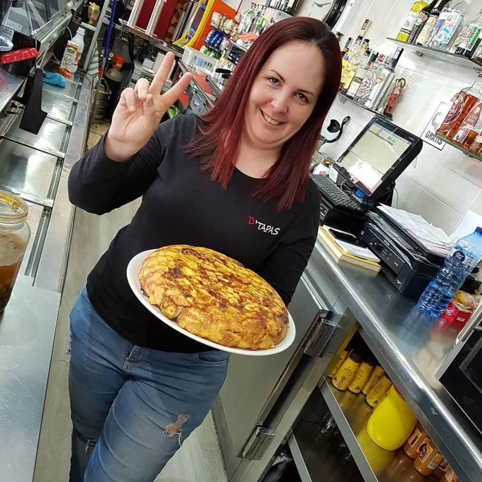 Vamos a por el martes con nuestra tortilla de verduras : Carta de Bar Churrería D'Tapas