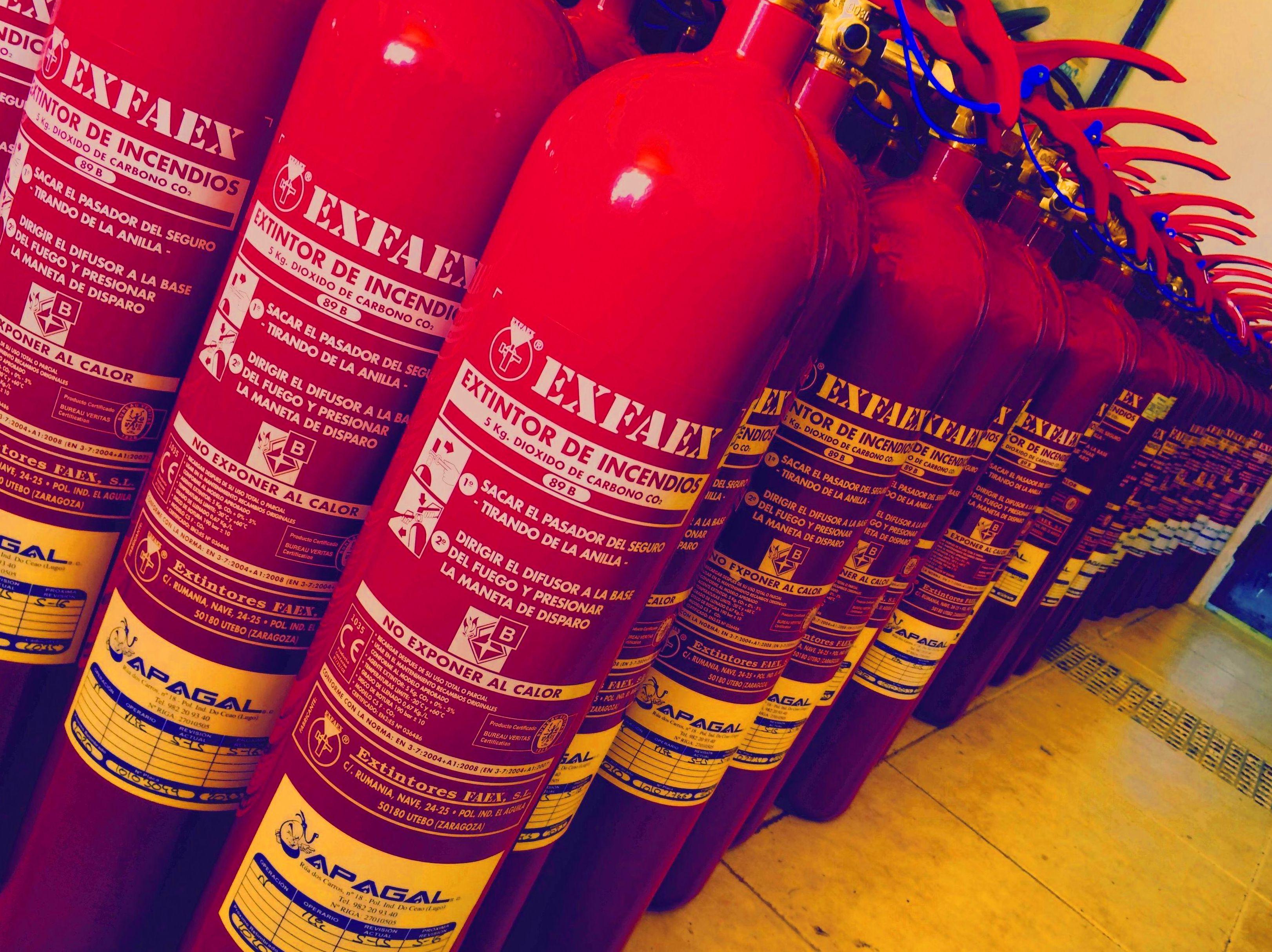 Material contra incendios en Lugo