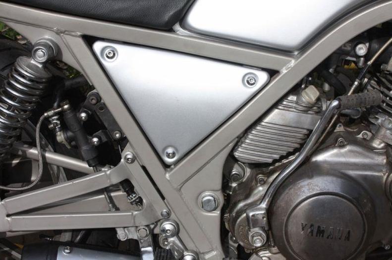 Chasis de Yamaha pintado en polvo