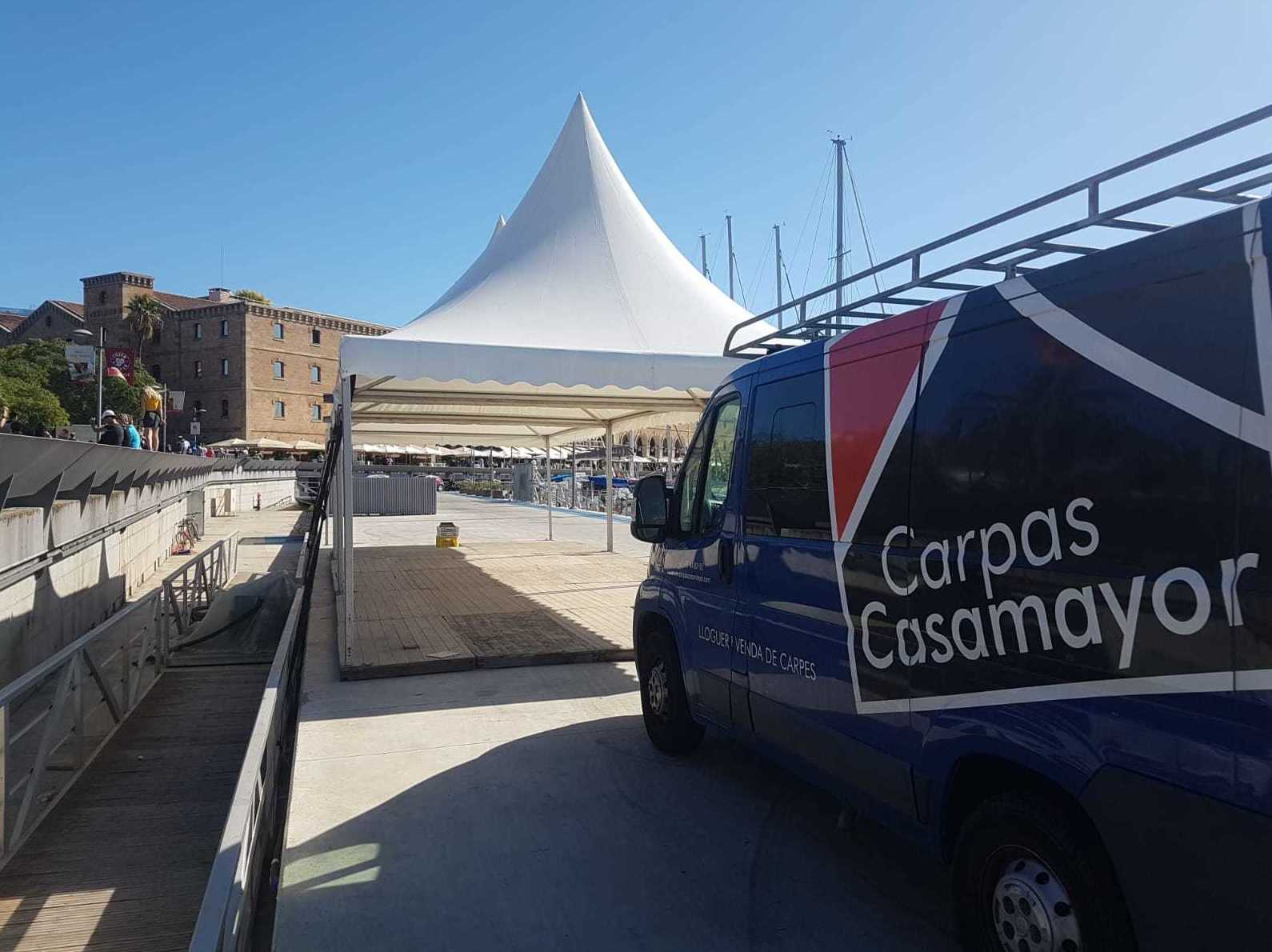 Nuestros trabajos realizados: Carpas y pagodas de Carpas Casamayor