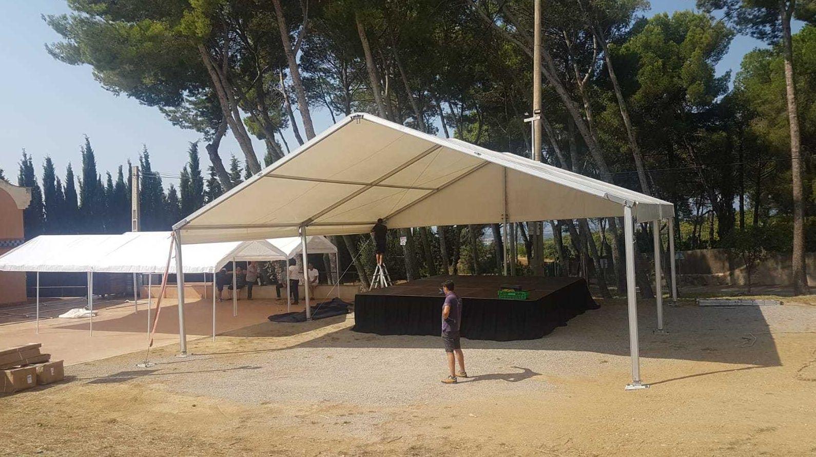 Venta y alquiler de carpas para eventos en Girona