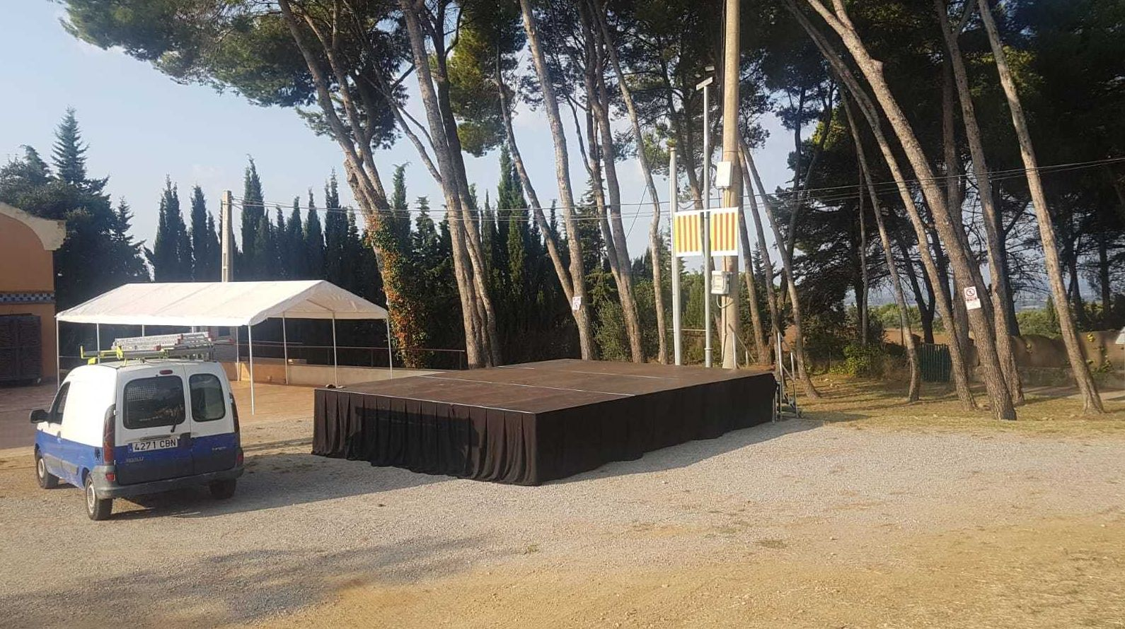 Montaje de carpas para eventos en Girona