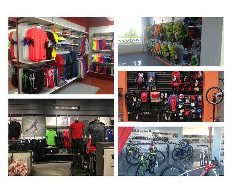 Mobiliario para tienda de deportes
