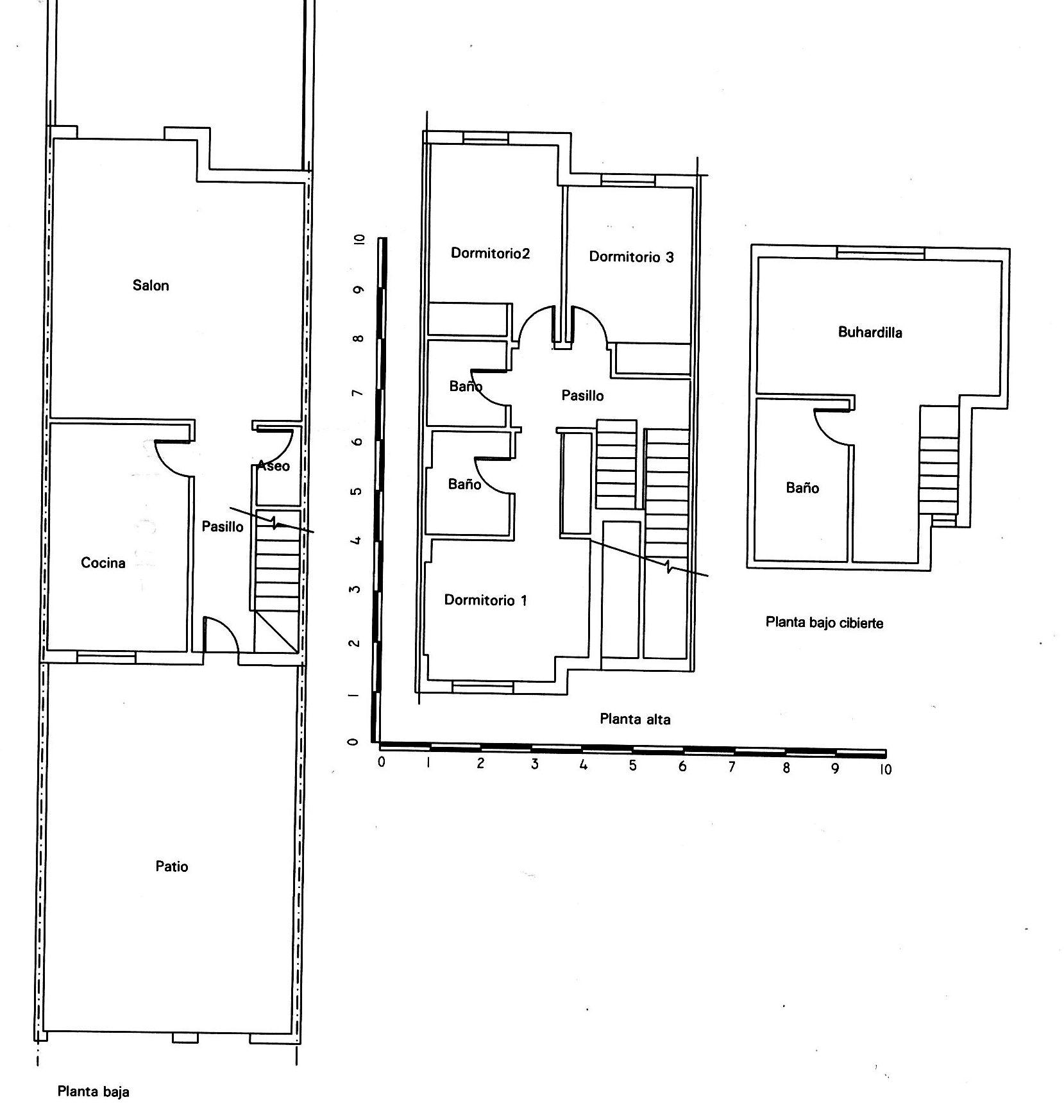 Tasacion inmobiliaria en Algeciras.Planos de planta