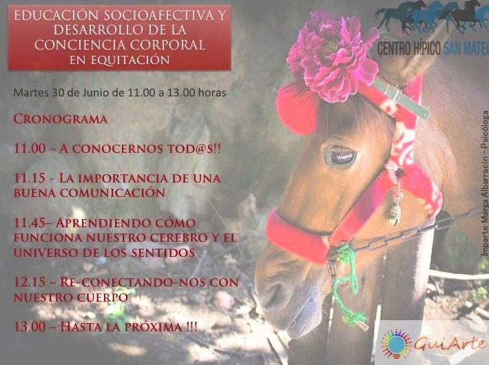 """Taller de Educación Socioafectiva y Desarrollo de la Conciencia Corporal en Equitación"""""""