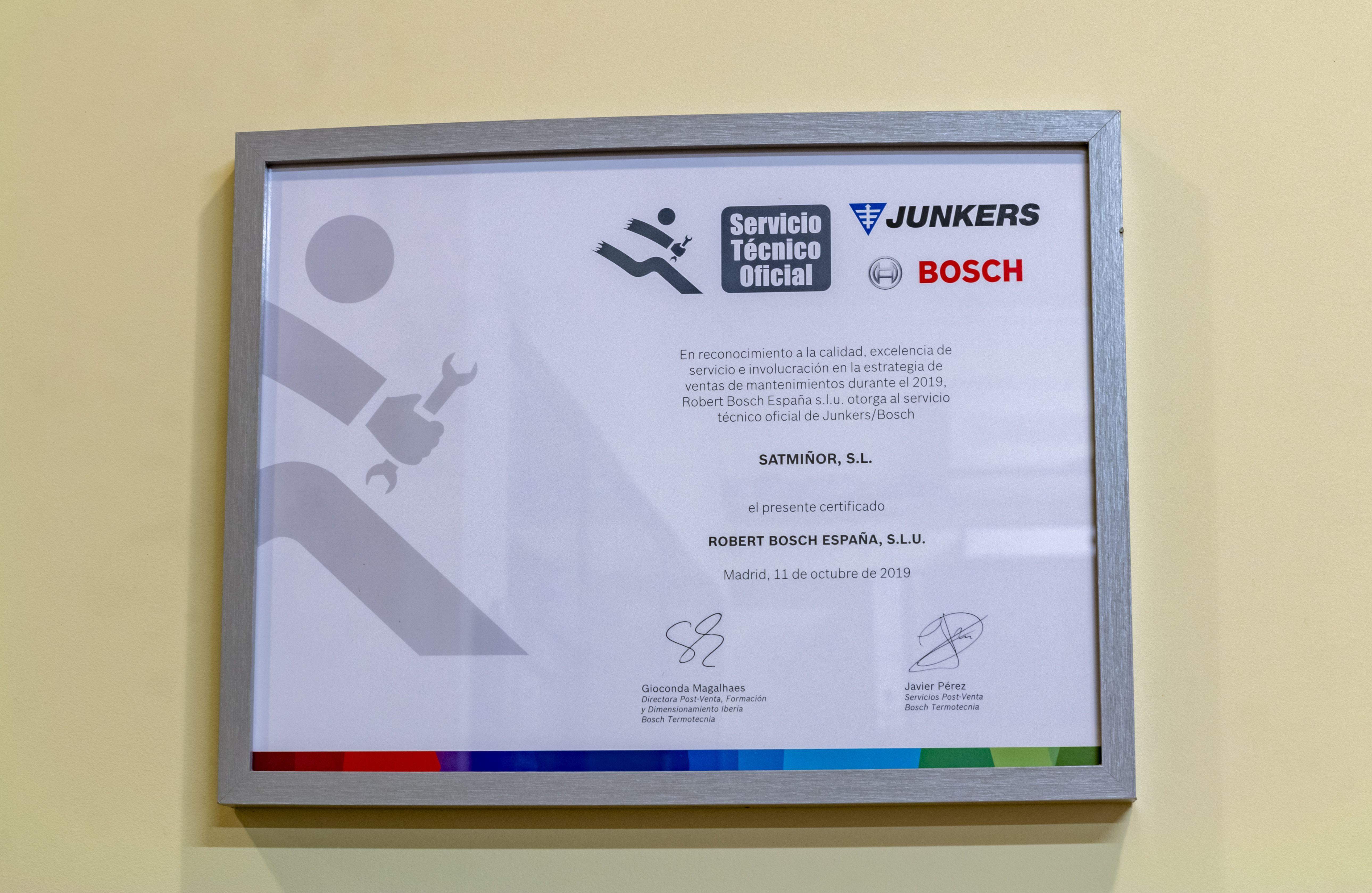 Certificado del negocio