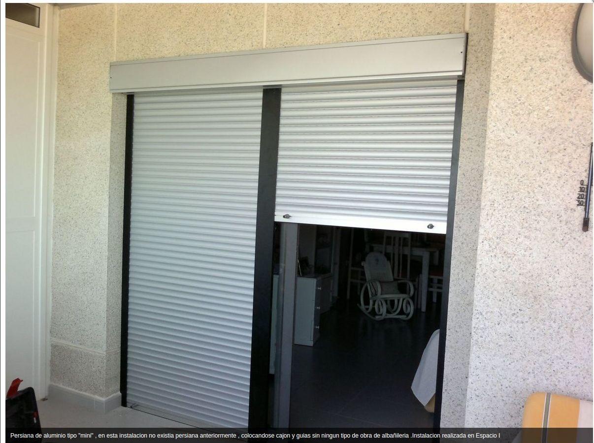 persiana de aluminio cullera