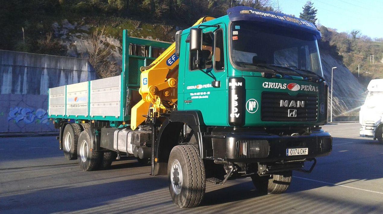 Foto 5 de Alquiler de camiones con grúa en Barakaldo | Camiones con Grúas Peña