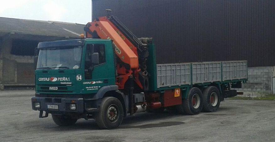 Foto 3 de Alquiler de camiones con grúa en Barakaldo | Camiones con Grúas Peña