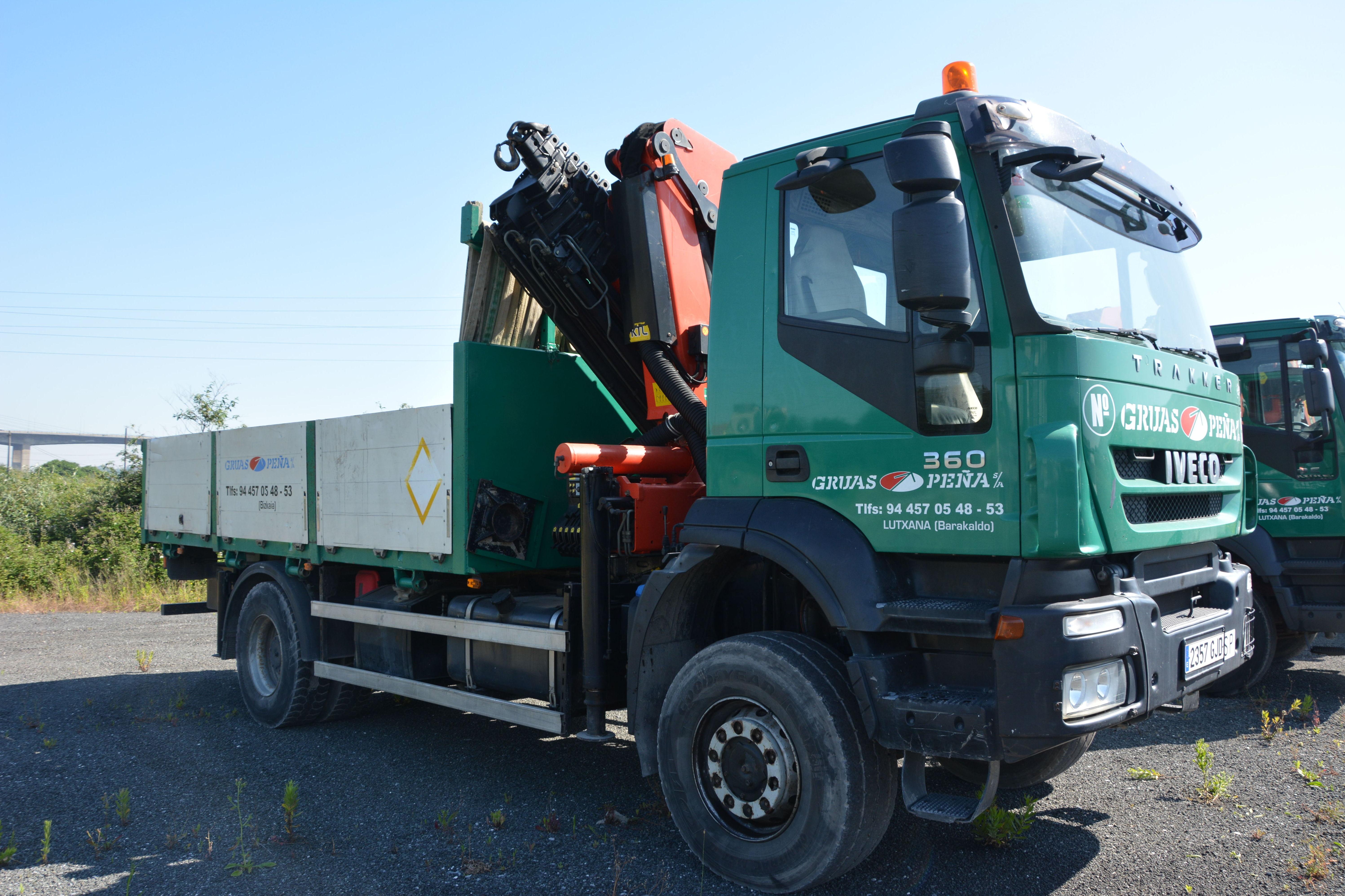 Foto 9 de Alquiler de camiones con grúa en Barakaldo | Camiones con Grúas Peña