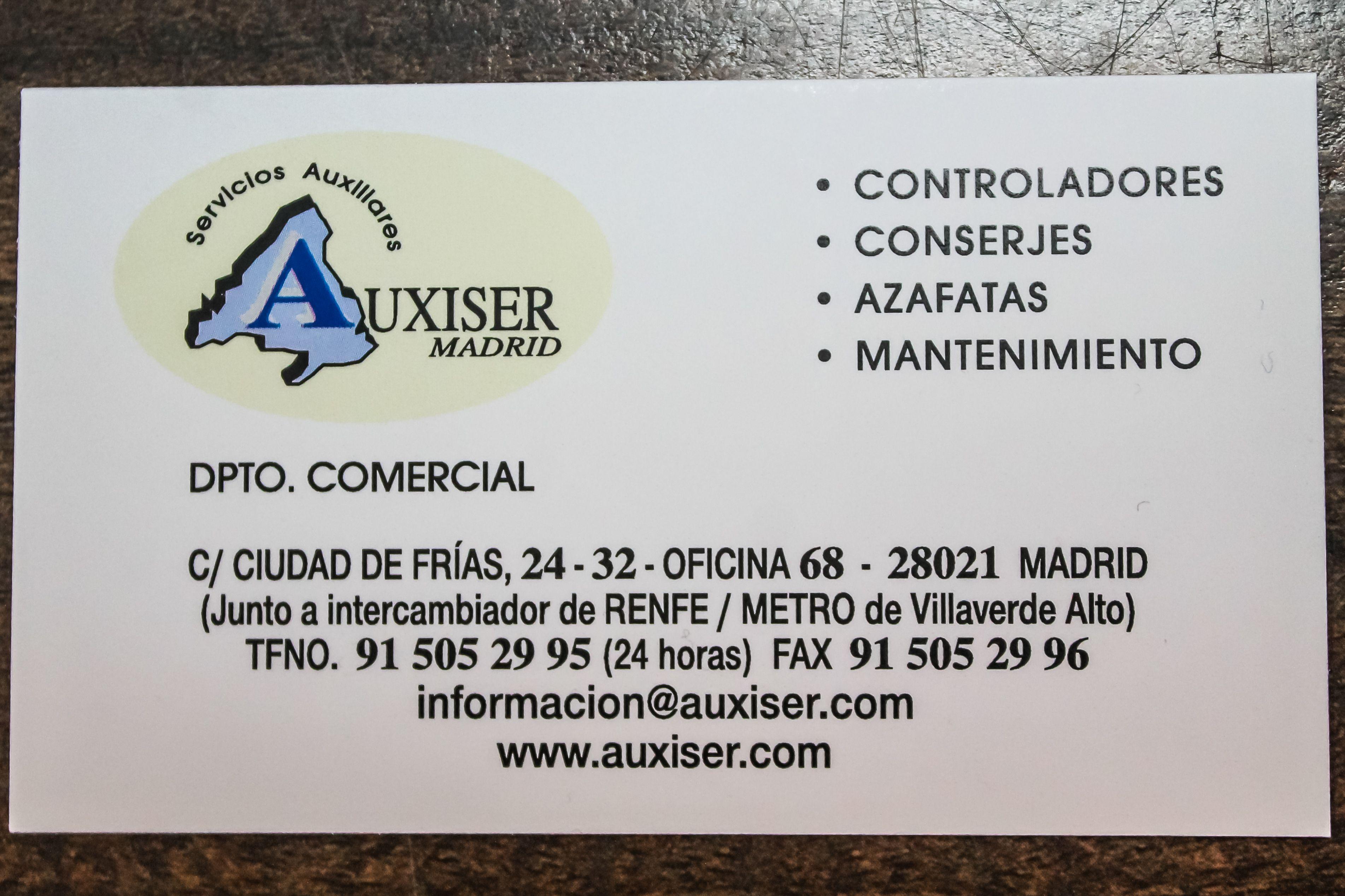 Foto 4 de Controladores en Madrid | Auxiser Madrid Servicios Auxiliares