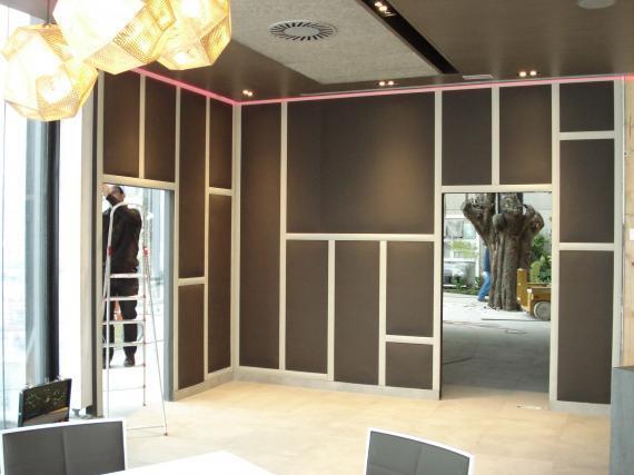 paredes tapizadas con paneles
