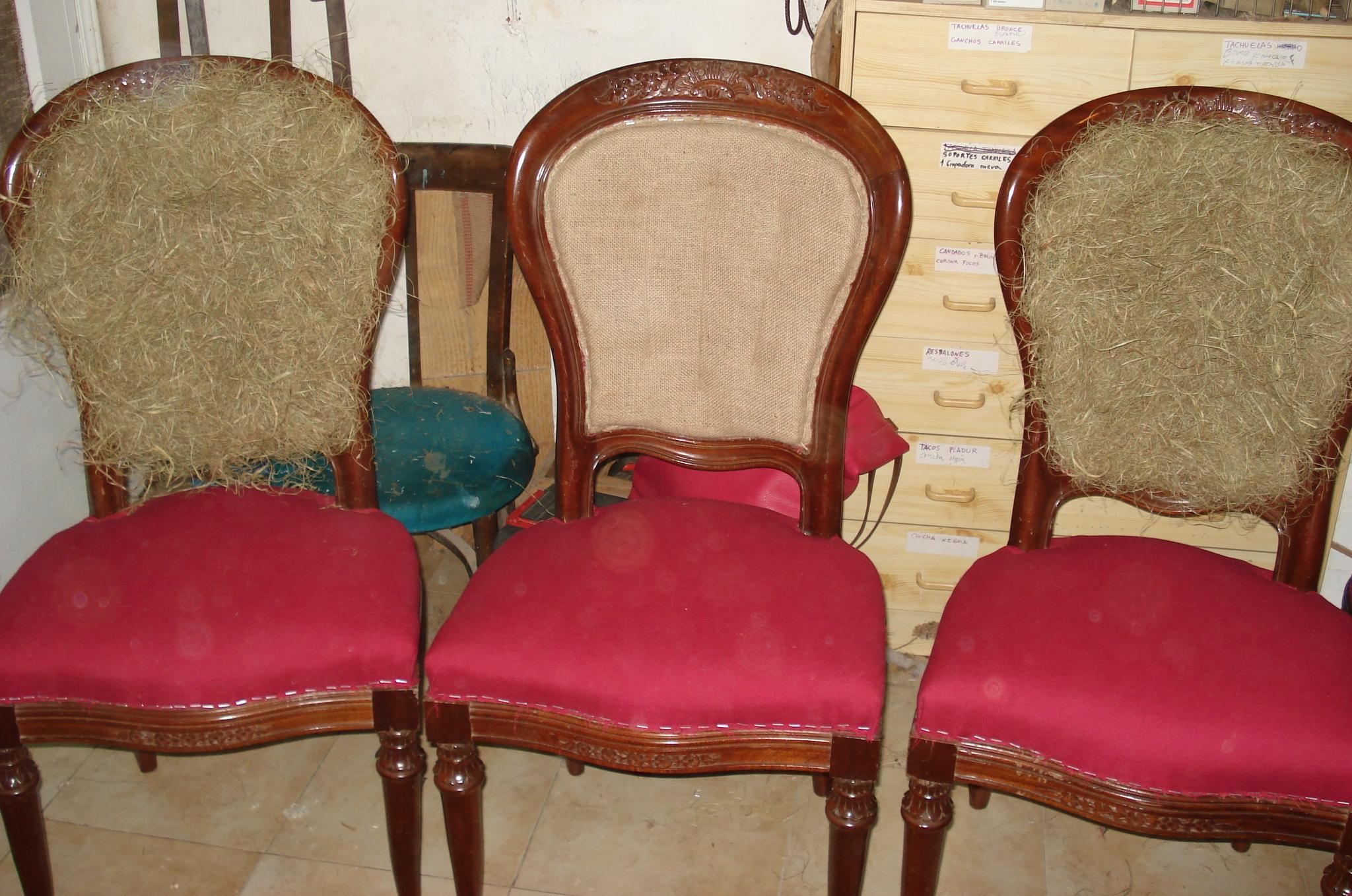 sillas Luis XVI medallón en crin vegetal