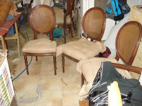 sillas Luis XVI en crin vegetal
