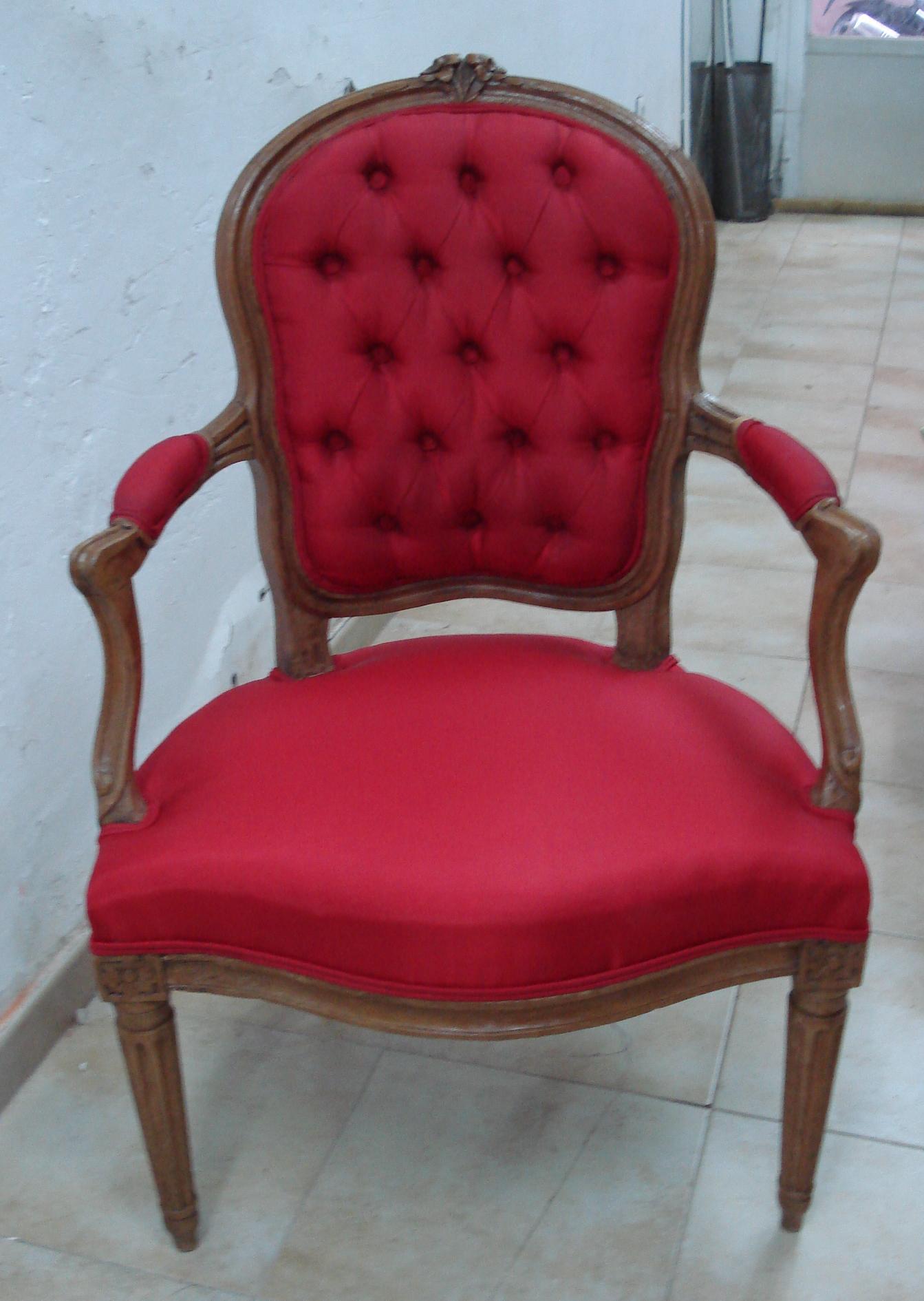 silla cabriolet Luis XVI
