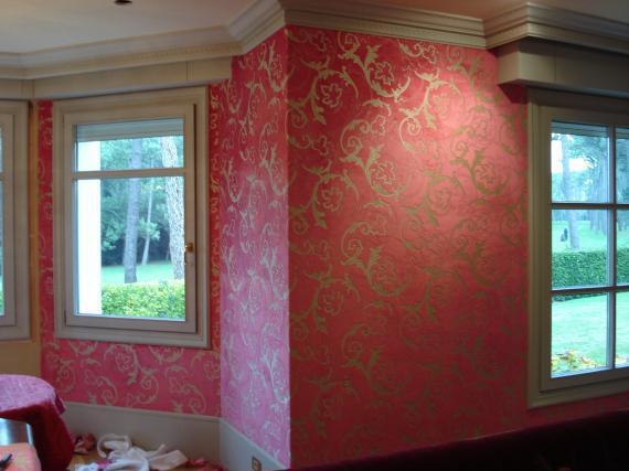 pared tapizada