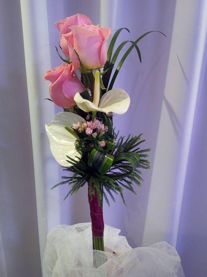 Centro floral sencillo