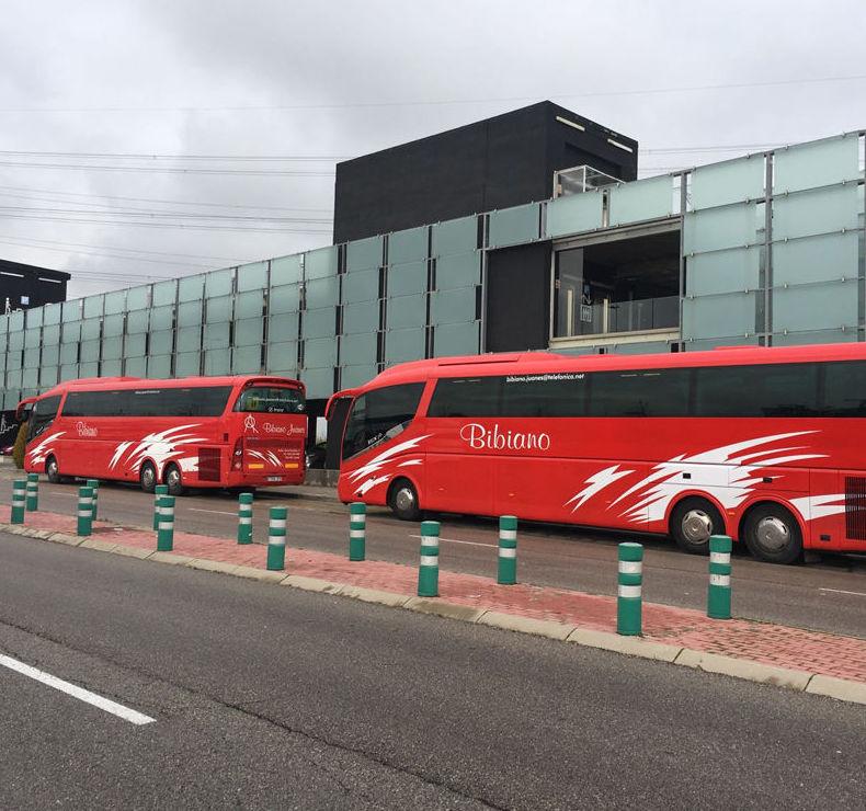 Flota de autobuses en Jaén