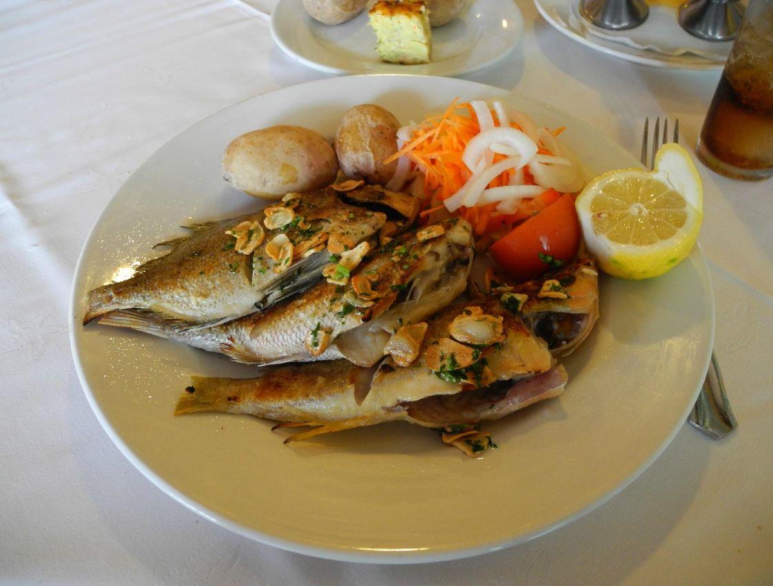 Platos elaborados con los pescados más frescos en Costa Teguise