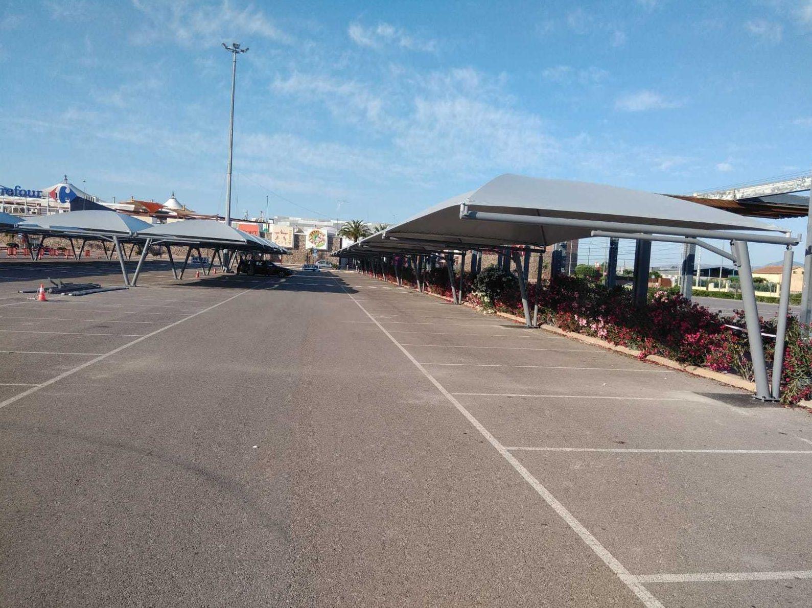 Marquesinas aparcamiento en Sevilla