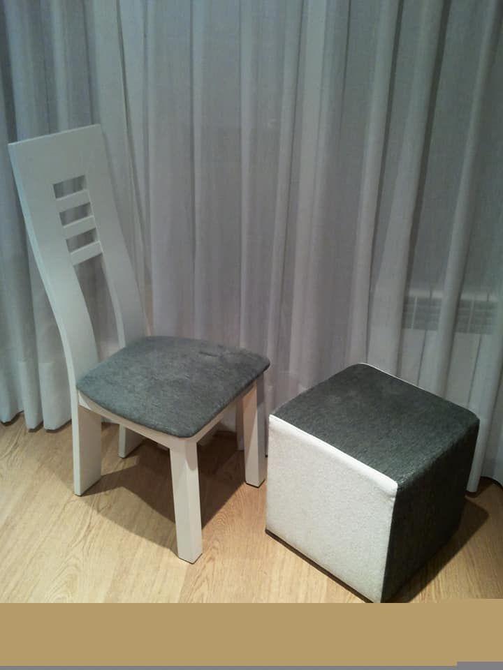 Tapizado de sillas y pufs en Fuencarral, Madrid