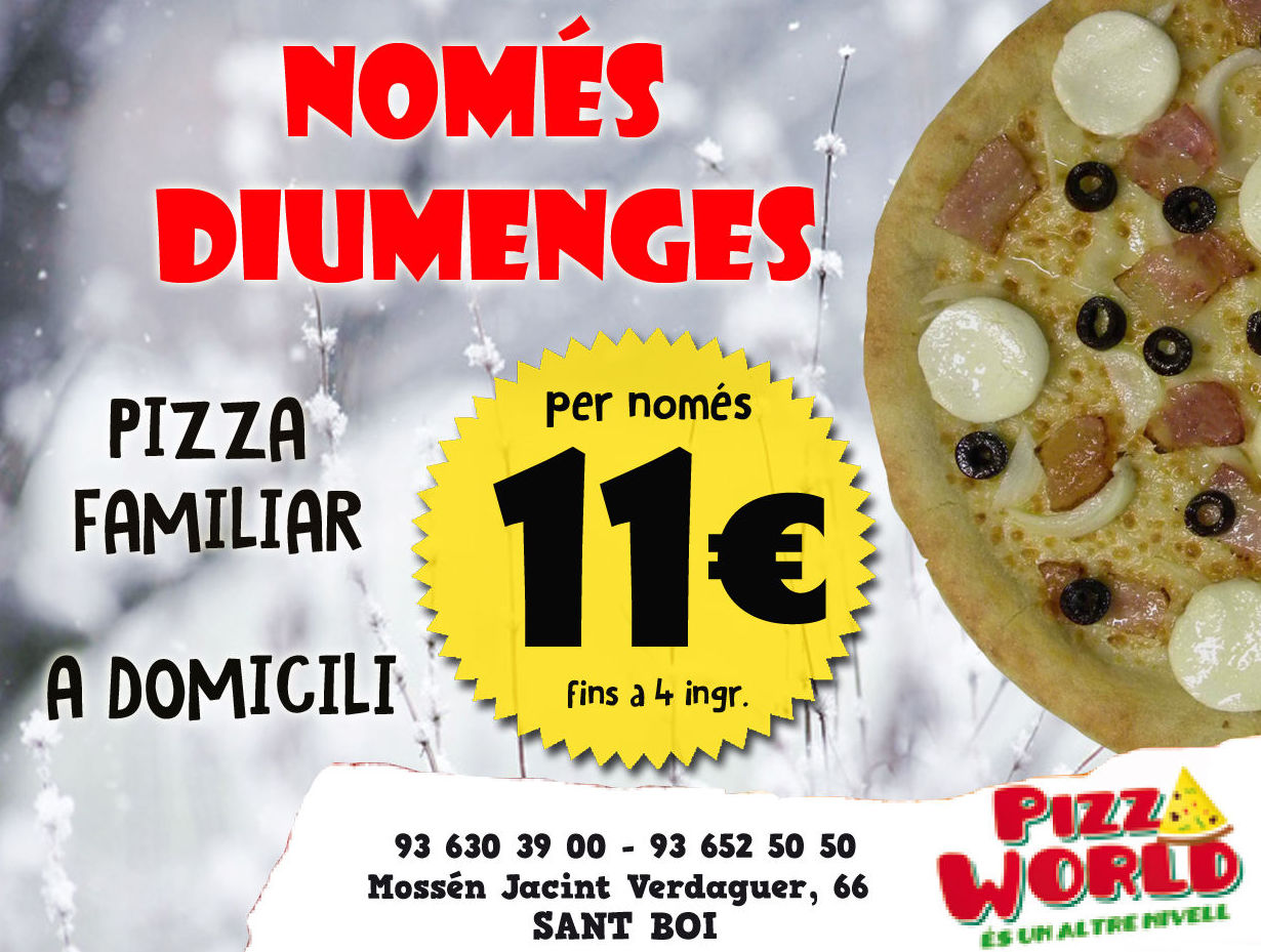 Foto 4 de Restaurante en Sant Boi de Llobregat | Pizza World