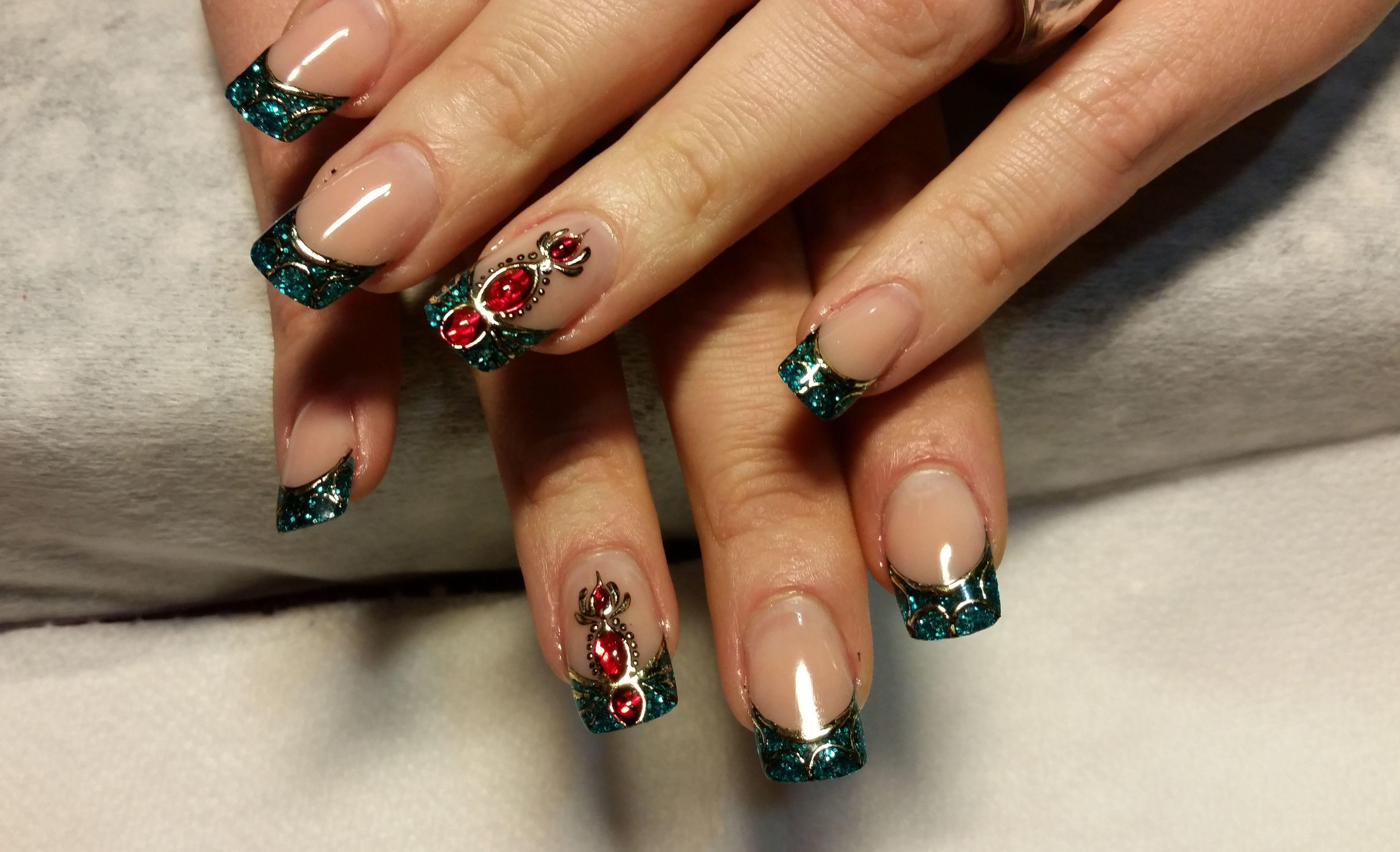 Relleno de uñas acrilicas fantasia Natali nail art studio leganes