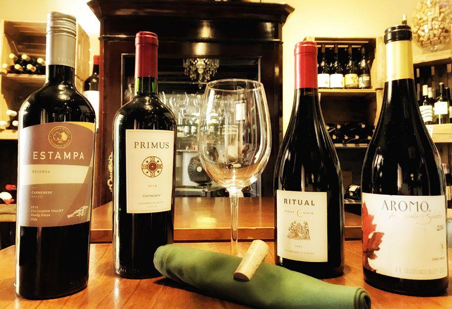 Vinos chilenos en nuestro restaurante argentino en Málaga