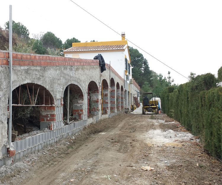 Cosntrucción de chalés en Mijas