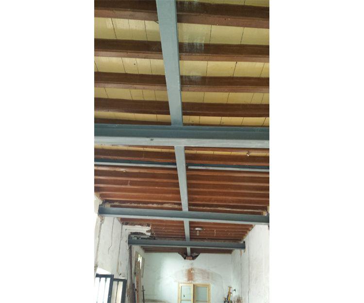 Colocación de vigas para techos