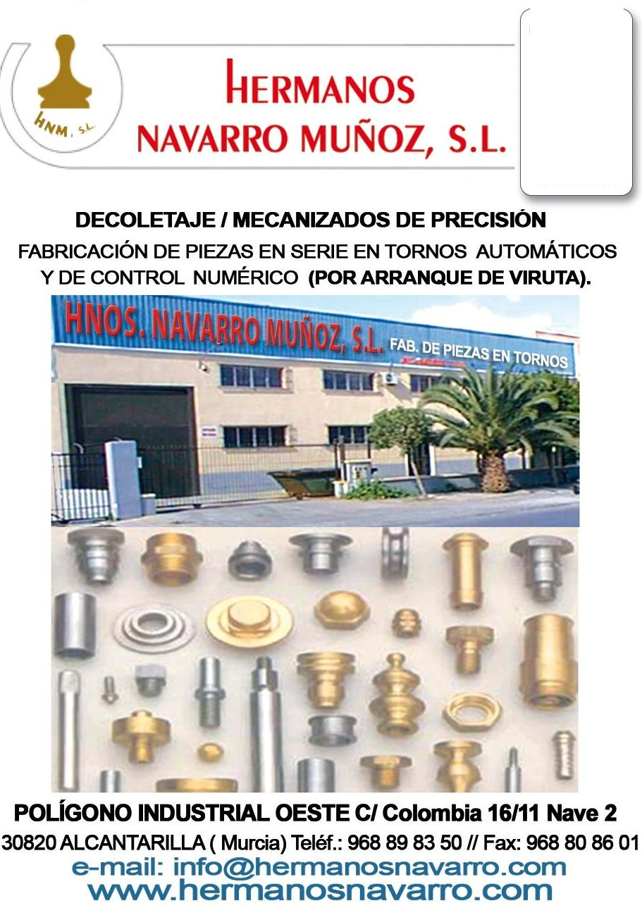 Foto 1 de Mecanizados en Alcantarilla, | Hermanos Navarro Muñoz