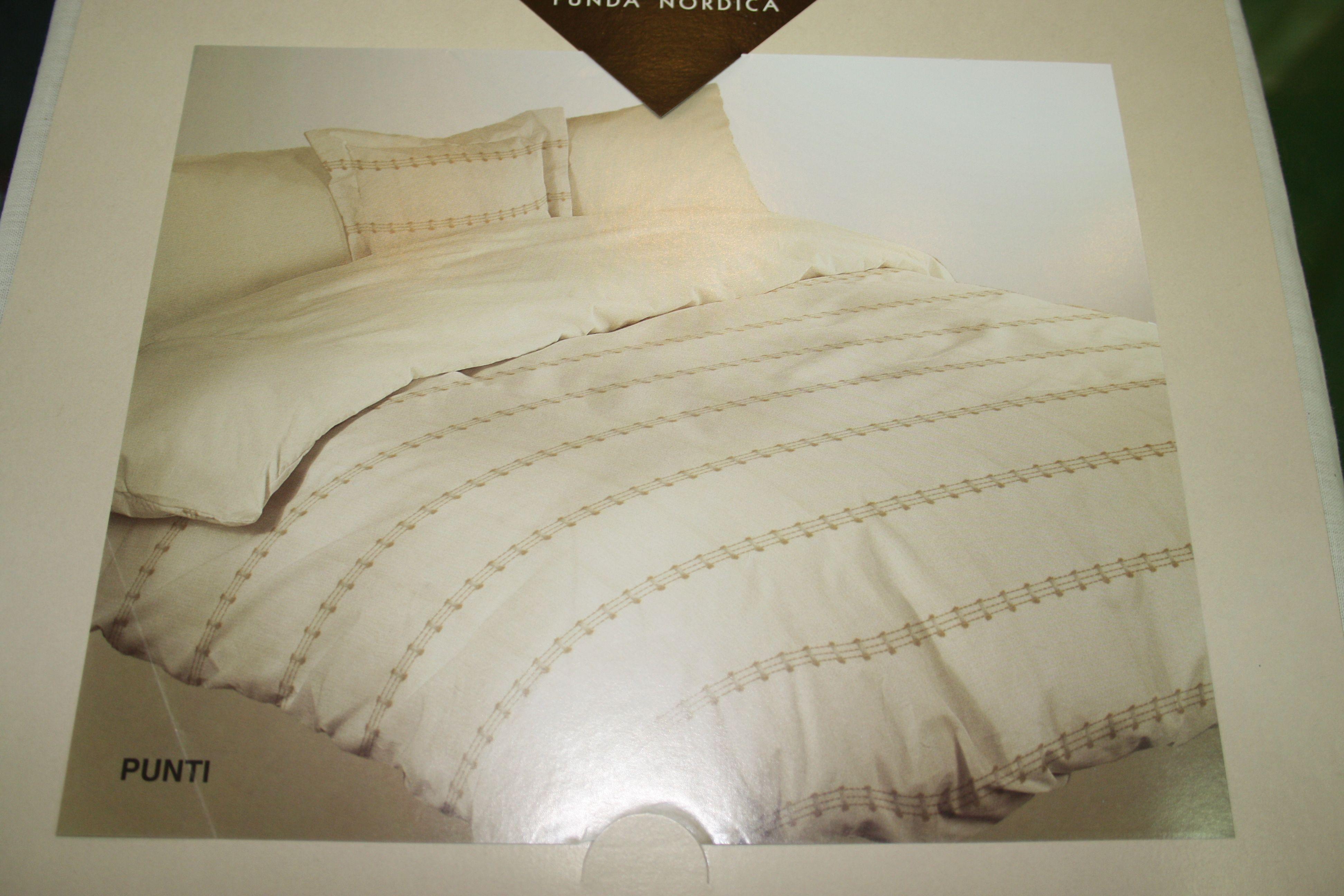 Punti. Conjunto de saco bajera ajustable, funda y almohada. Cama 135 cm.: Catálogo de La Cibeles