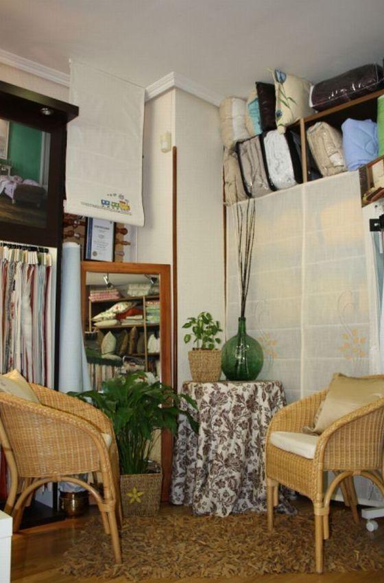 Interior tienda La Cibeles. Confección de cortinas Tres Cantos.